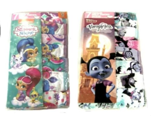Shimmer Shine or Vampirina Toddler Girls 7 Pc Panty   2T/3T ot 4T
