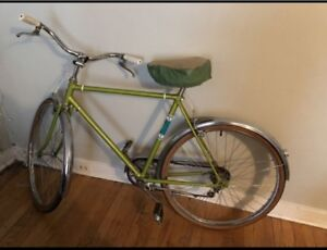 Vintage green bike for sale