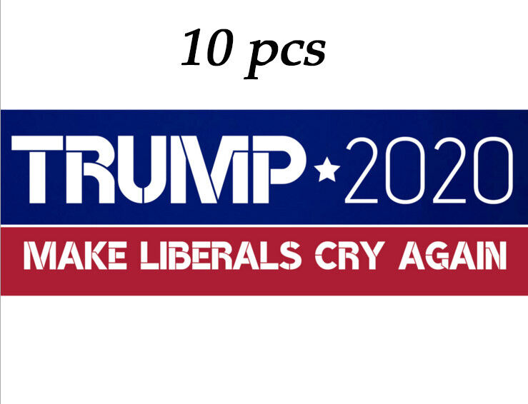 10PCS Donald Trump President 2020 Bumper Sticker Keep Make America Great