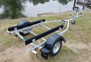 MULTI USE GAL BOAT TRAILER SUITS UP TO 3.95 mt HULL WITH CARPET SKIDS Erina Gosford Area Preview