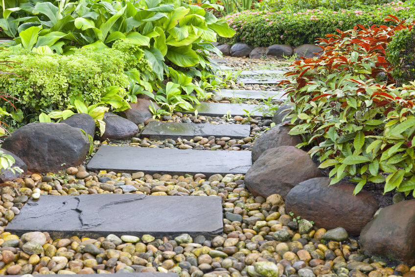 How to make stepping stone molds ebay for Rock stepping stones landscaping