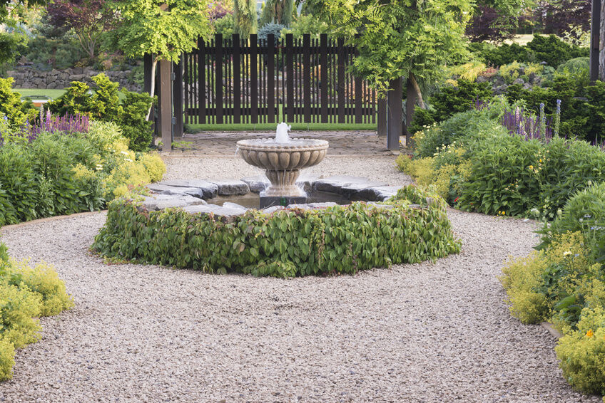 how to install outdoor fountains