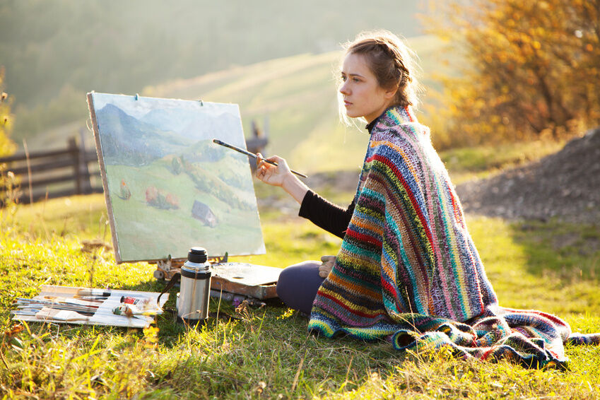 How to create canvas art for the outdoors ebay for How to do painting on canvas