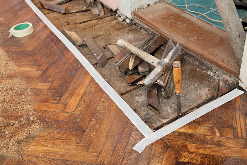 How to Repair a Damaged Wood Floor