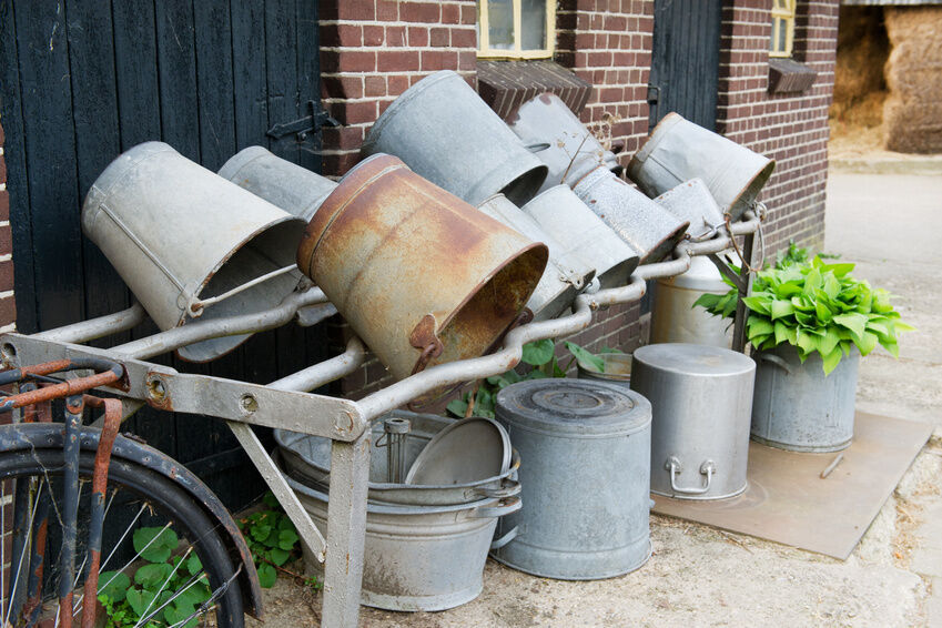 How to Properly Clean Vintage Buckets for Reuse