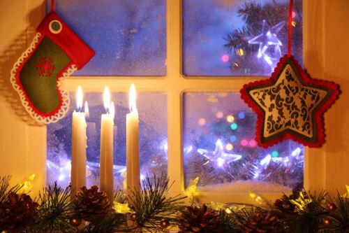 Weihnachtliche Fensterdekoration finden Sie auf eBay