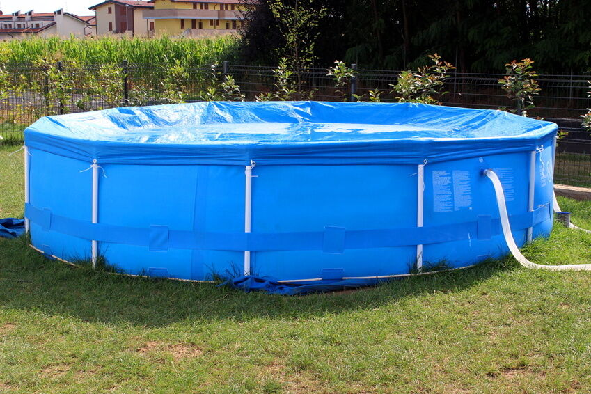 Was tun mit einem Quick-up-Pool im Winter?