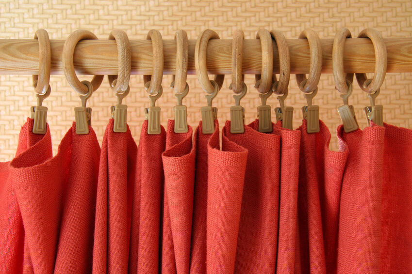 Large Curtain Rings With Clips Red Curtain Rings with Clips
