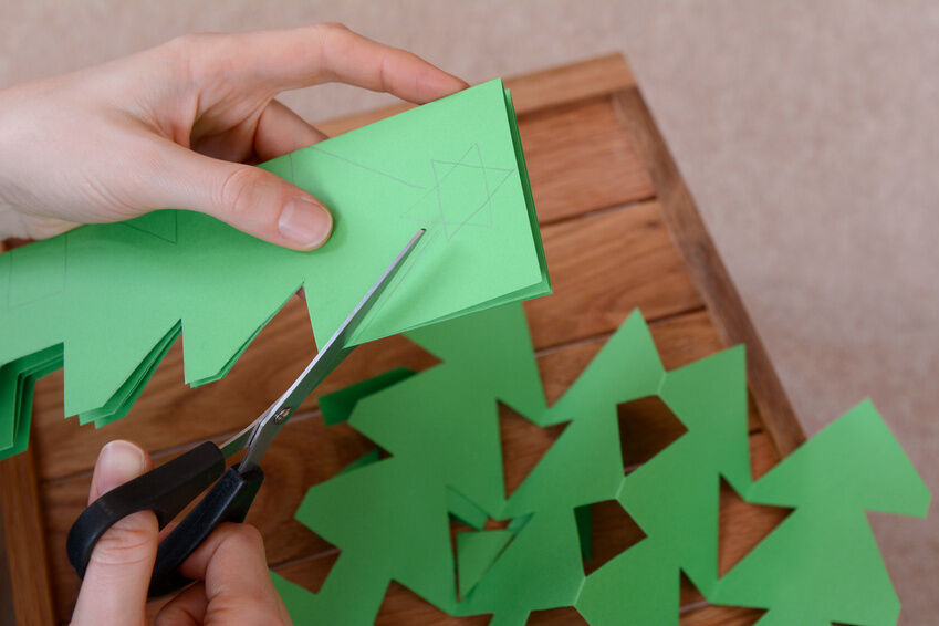 DIY Paper Mache Christmas Homemade Paper Christmas Tree Ornaments