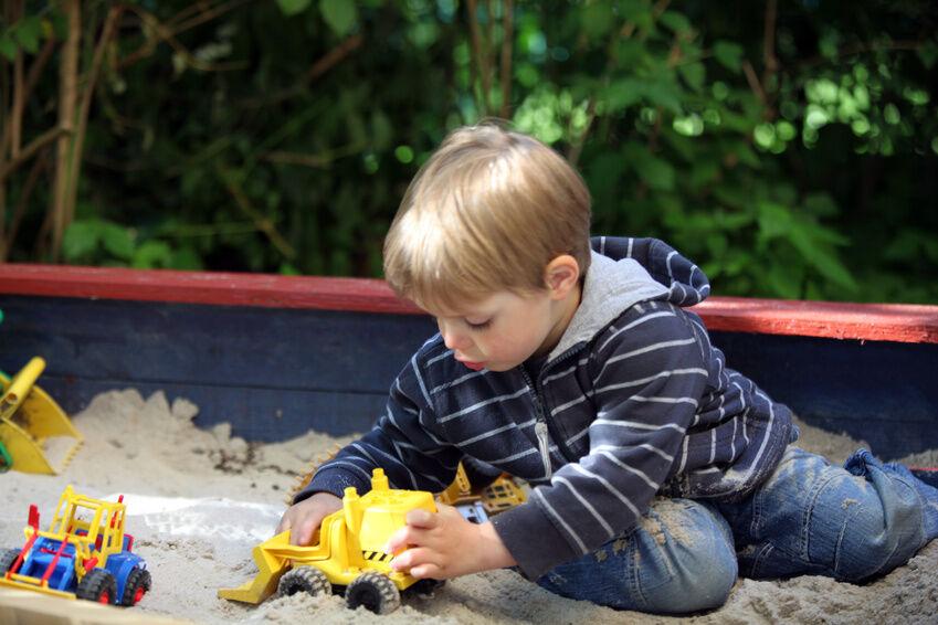 Schaufelbagger und Bagger mit Greifarm für das Kinderzimmer