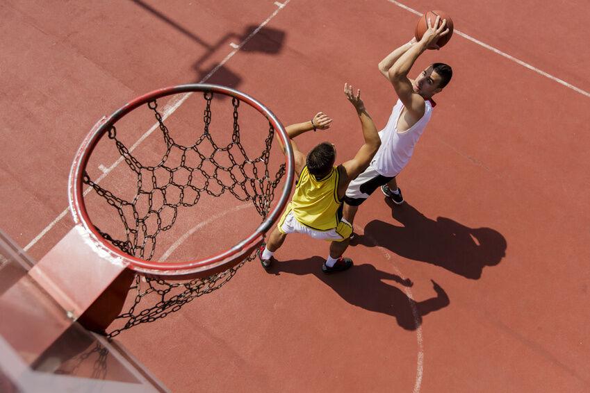 basketball körbe werfen