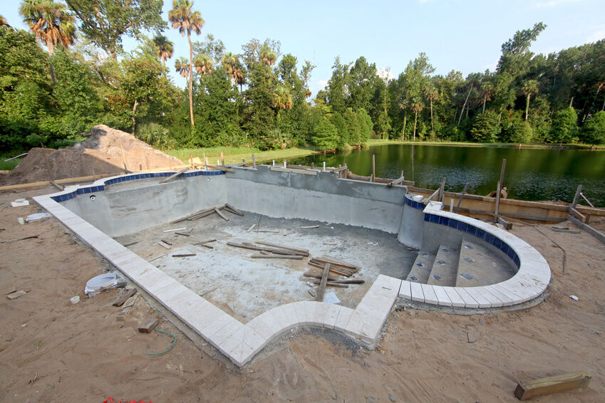 How to build a concrete block swimming pool ebay for Gartenpool oval