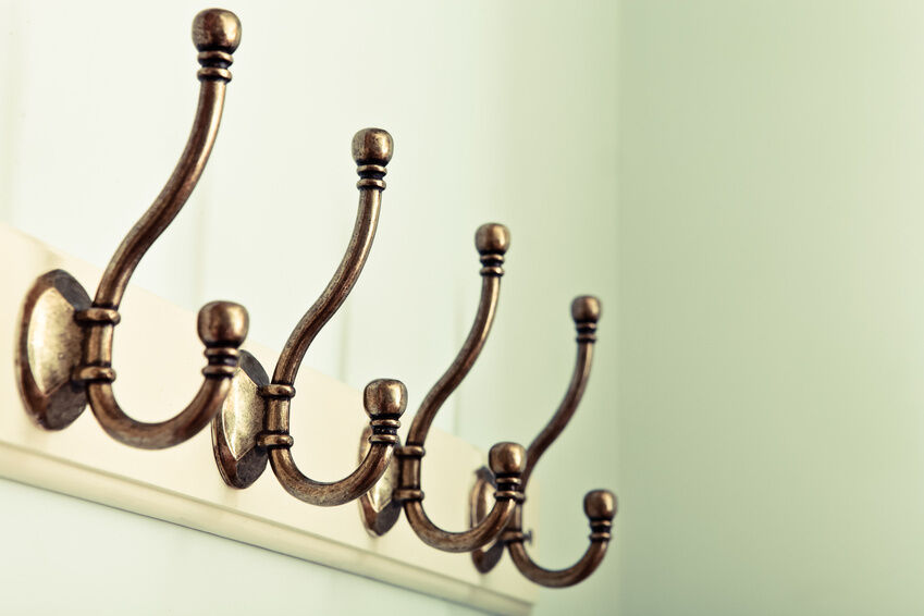 How to care for cast iron coat hooks ebay - Cast iron row of hooks ...