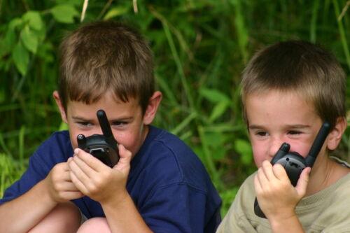 Walkie-Talkies für Kinder mit Morsetaste zum Spielen und Sprechen
