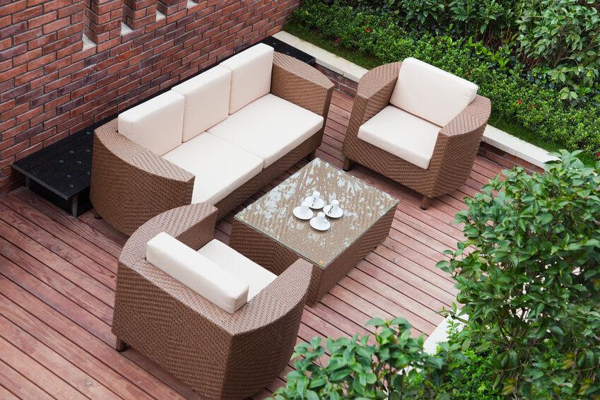 einrichtung im kolonialstil mit einer rattan sitzgruppe ebay. Black Bedroom Furniture Sets. Home Design Ideas