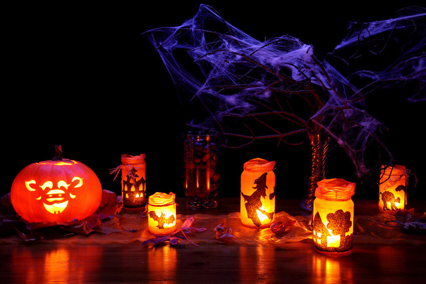 How to make glow in the dark halloween decorations ebay - Deco halloween enfant ...