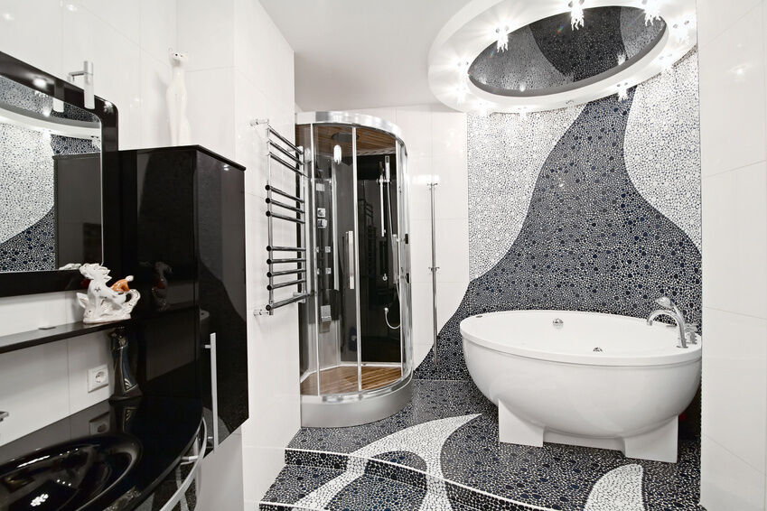 So bringen sie glasmosaik steinchen fachgerecht in bad und for Glasfliesen bad
