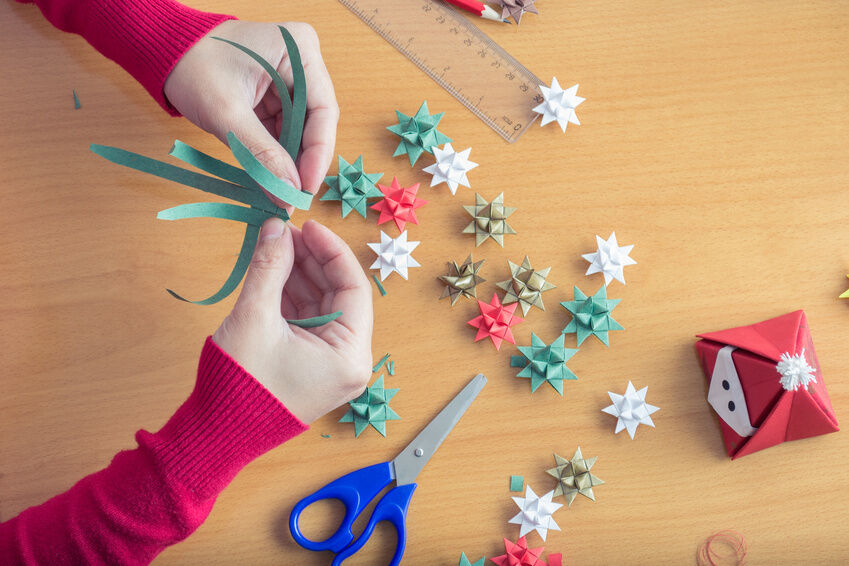 Crafts making christmas decorations out of paper ebay for How to make paper christmas decorations at home