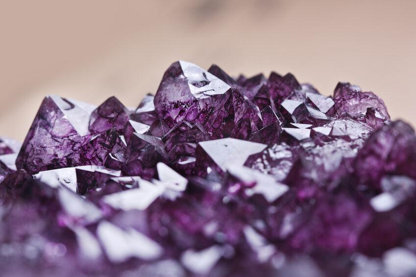 Purple Rock Rings