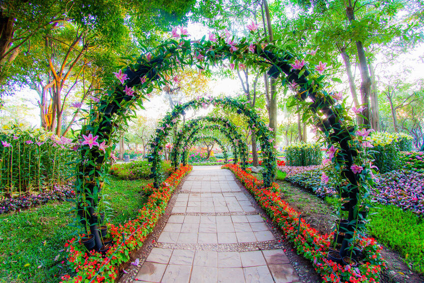 How to make a simple garden archway ebay for Garden archway designs