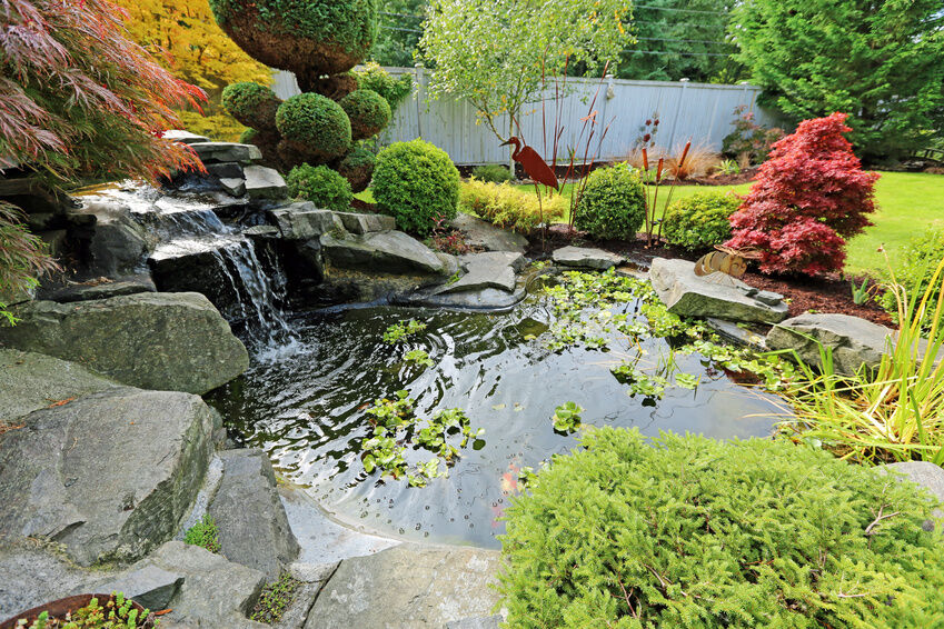 How to build a backyard waterfall ebay for Build a simple backyard waterfall
