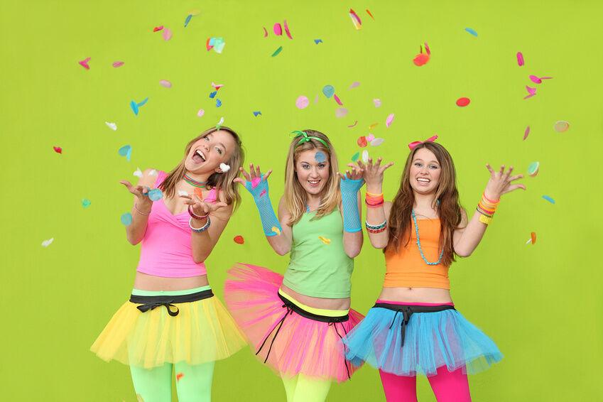 Neon eine farbe die ins auge f llt ebay for 90er mode damen