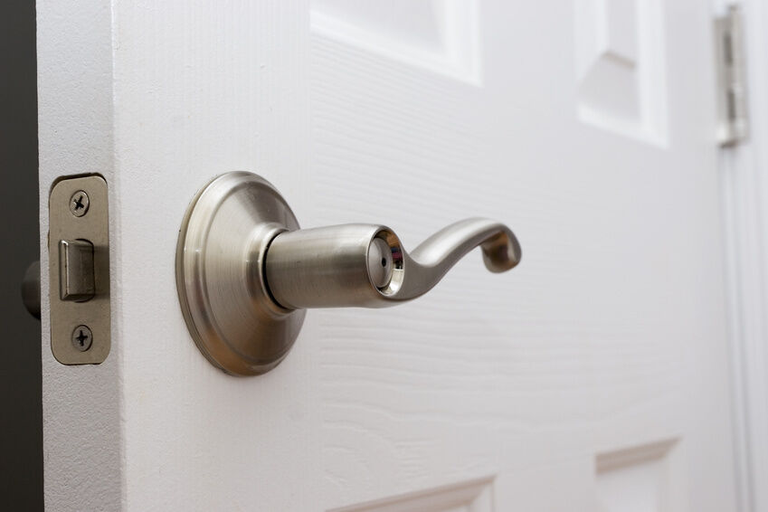 Buying and installing door hardware bathroom front door - Installing a lock on a bedroom door ...