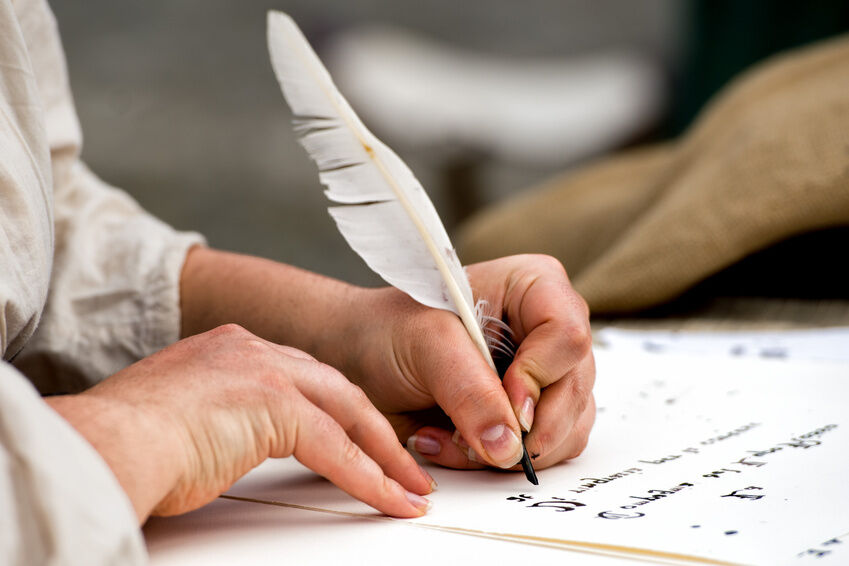 Quill Pen Writing