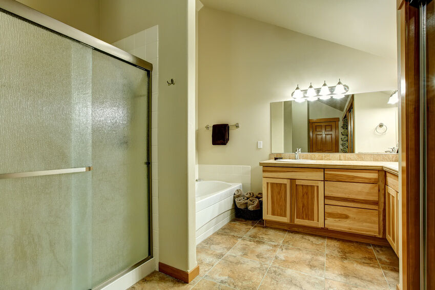 how to install a shower door towel bar
