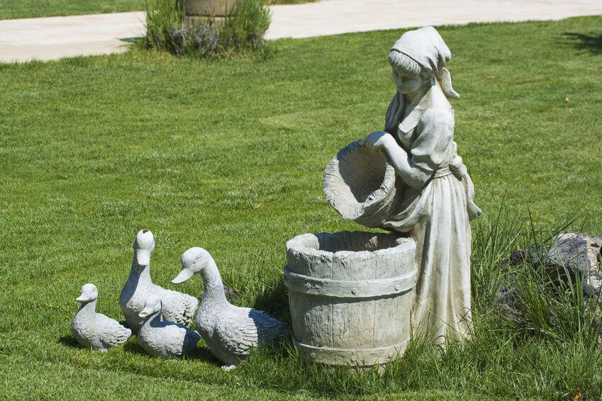 Delightful How To Paint Concrete Garden Statues