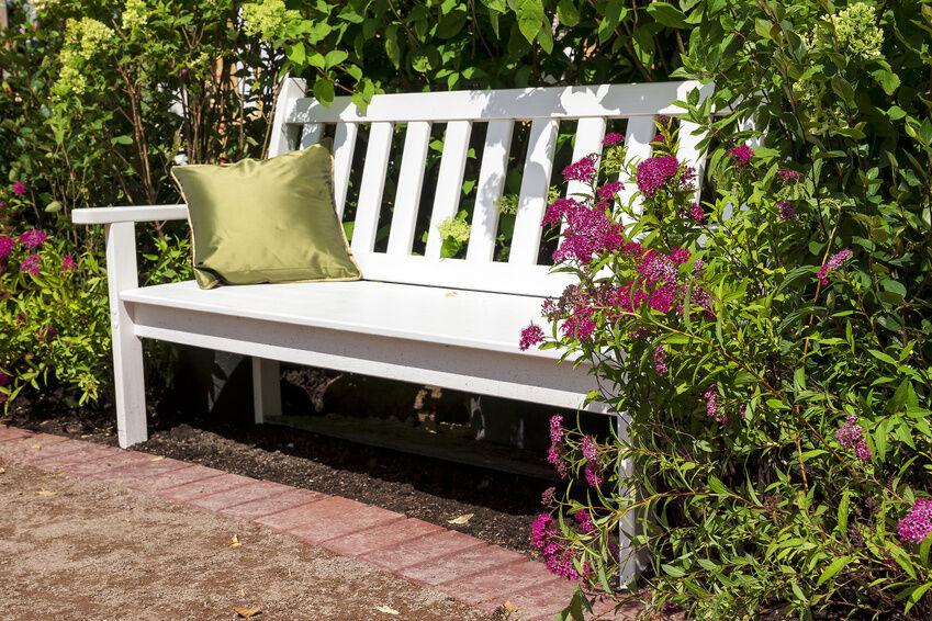 how to make a garden bench seat