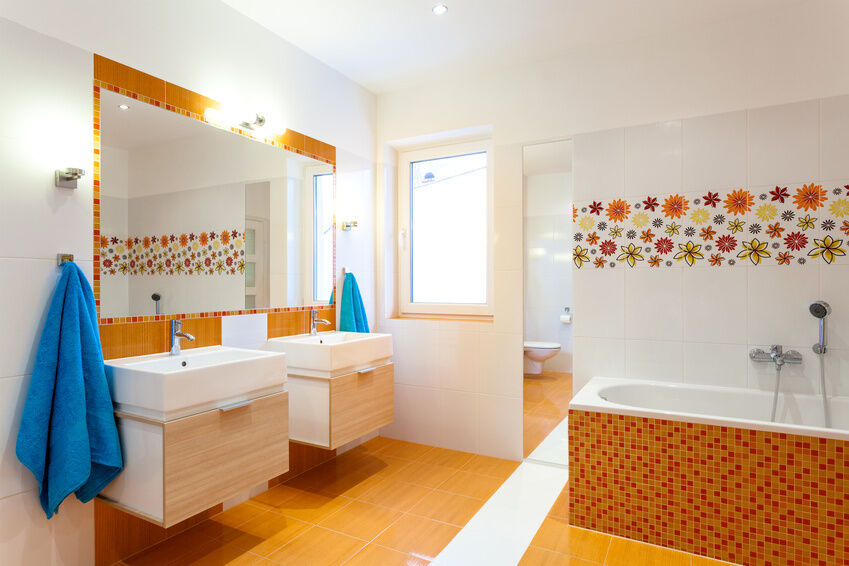If You Simply Want To Add Colour Or Texture To Your Bathroom, Use Mosaic Tiles  To Create Accents. Choose Colourful Glass Or Ceramic Mosaic Tiles That Suit  ... Part 62