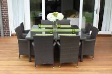 WICKER DINING SETTING, 8 SEATS-SQUARE, EUROPEAN STYLIED,BRAND NEW Port Melbourne Port Phillip Preview