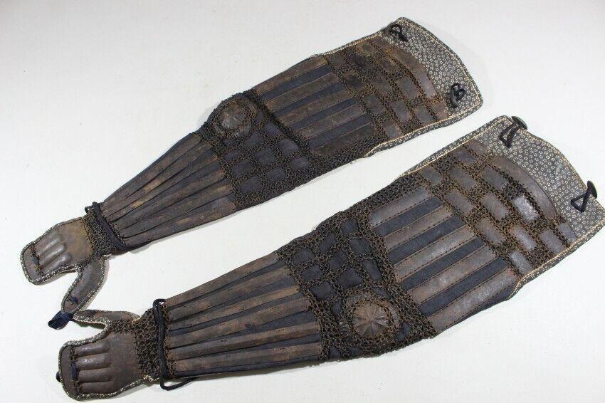Japanese Samurai Kote Of Yoroi Sleeve Armor Edo Period Antique - $279.88