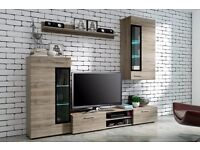 Modern Living room Furniture Set TV Unit Stand Cupboard Wall Mounted Cabinet
