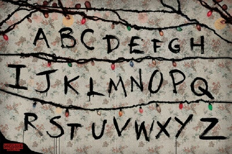 Stranger Things Alphabet Wall RUN Poster, Size 24x36