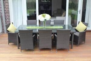 WICKER DINING SETTING,8 SEATER,STUNNING EUROPEAN STYLING,B/NEW Modbury Tea Tree Gully Area Preview