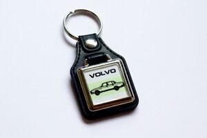 Volvo-200-240-Keyring-Leatherette-amp-Chrome-Retro-Classic-Car-Auto-Keytag