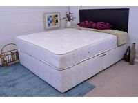 50% OFF SALE!! BEST SELLING BRAND==BRAND NEW === DOUBLE DIVAN BED BASE WITH FULL FOAM MATTRESS ==