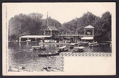 USA NY NEW YORK Boat House Central Park c1902 u/b PPC by J Koehler