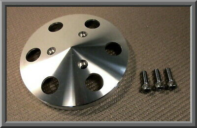SANDEN 508 SD5 STYLE A/C COMPRESSOR POLISHED BILLET ALUMINUM CLUTCH COVER