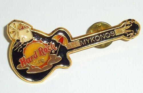 Hard Rock Cafe HRC PIN Guitar Mykonos Black Les Paul Beach Hut Scene Dice