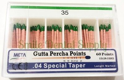 Meta Gutta Percha Points .04 Special Taper 35 60pts1pk
