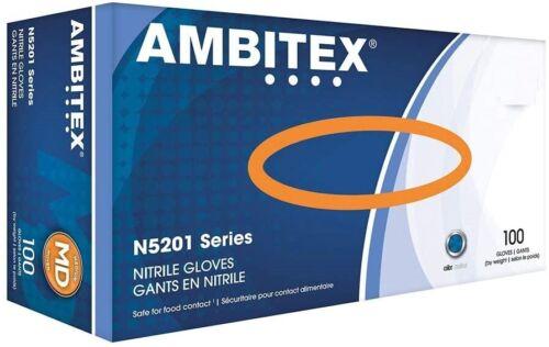 Ambitex Nitrile Latex-Free Gloves - 100/box ****New - Sealed Boxes****