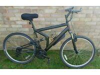 Full size dual suspension mountain bike £25