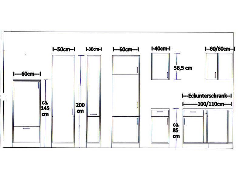 k chenzeile mankanova 1 k che 270cm k chenblock hochglanz schwarz wei m ger ten eur 989 00. Black Bedroom Furniture Sets. Home Design Ideas