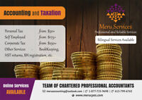 Accounting & Taxation (T1: $30, Self-Employed $150+, T2- $250