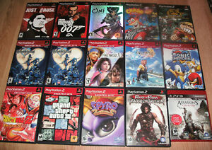 PS2/PS3 games for sale