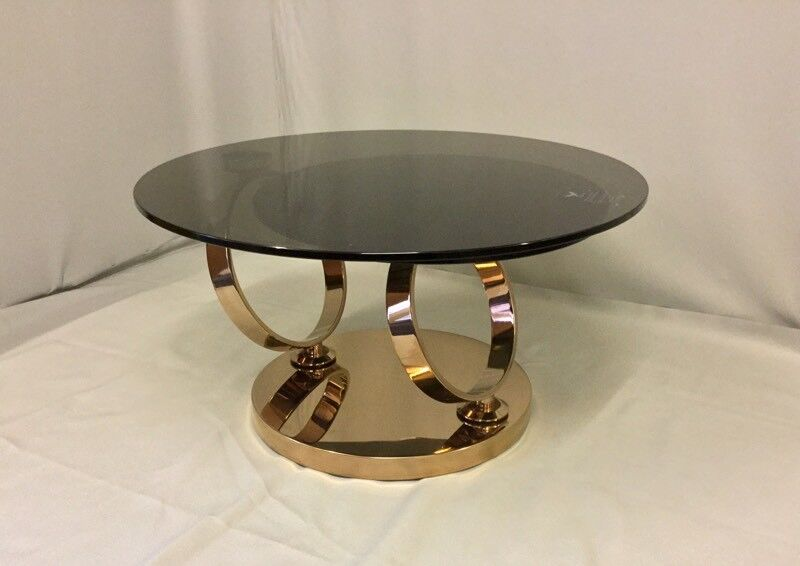 Stunning Rose Gold Glass Magic Rings Coffee Table Rrp 825 Sstc In Bournemouth Dorset Gumtree