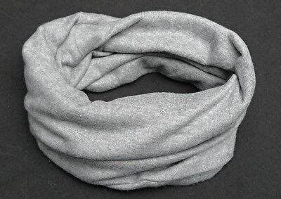 Kinder Loop 2 in 1 Multifunktions Schal/Mütze Jersey grau Jungen Mädchen 561